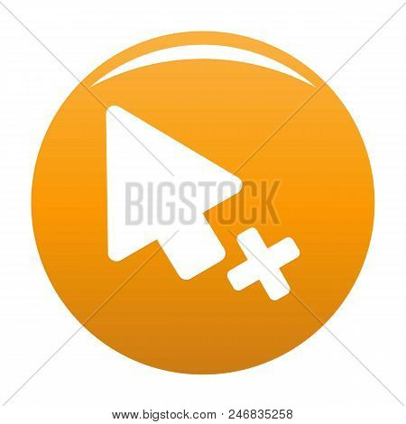 Cursor Failure Icon. Simple Illustration Of Cursor Failure Vector Icon For Any Design Orange