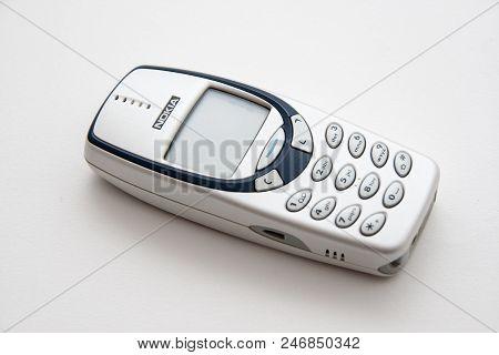 Rome, Italy - February 02, 2013: Old Nokia Phone Isolated On White Background