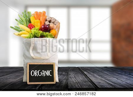 Organic Grocery Shopping Fruits And Vegetables Healthy Delicious