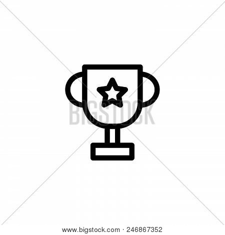 Award Winner Vector Icon On White Background. Award Winner Modern Icon For Graphic And Web Design. A