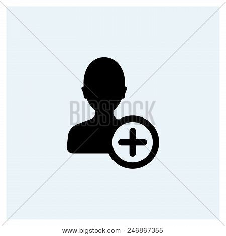 Add Account Icon Vector Icon On White Background. Add Account Icon Modern Icon For Graphic And Web D