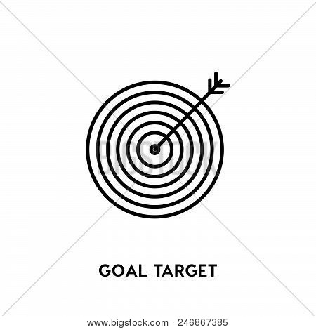 Goal Target Vector Icon On White Background. Goal Target Modern Icon For Graphic And Web Design. Goa
