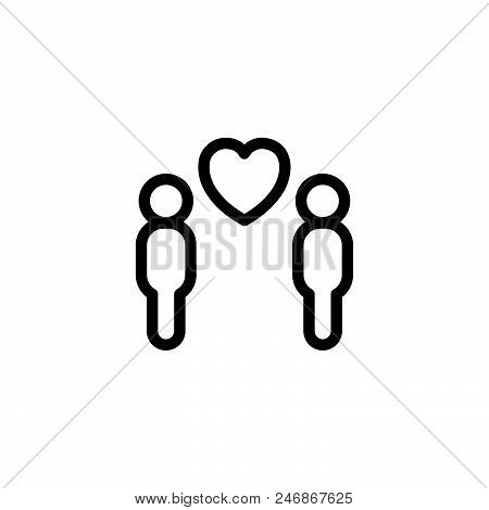 Gay Love Vector Icon On White Background. Gay Love Modern Icon For Graphic And Web Design. Gay Love