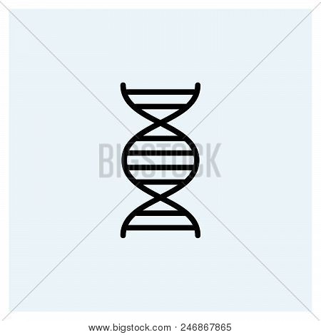Dna Icon Vector Icon On White Background. Dna Icon Modern Icon For Graphic And Web Design. Dna Icon