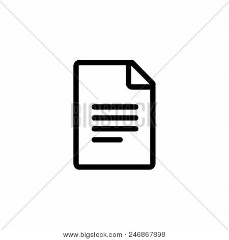 Text File Vector Icon On White Background. Text File Modern Icon For Graphic And Web Design. Text Fi