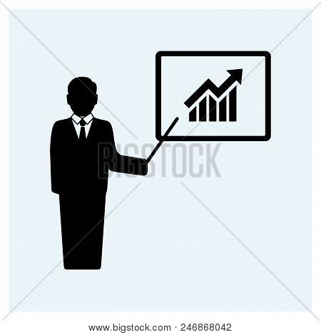 Business Report Icon Vector Icon On White Background. Business Report Icon Modern Icon For Graphic A
