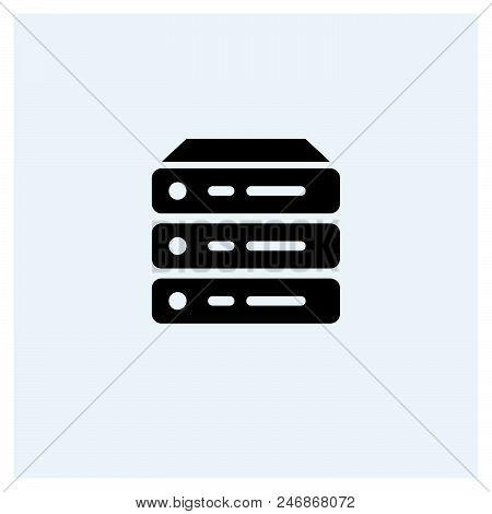 Server Icon Vector Icon On White Background. Server Icon Modern Icon For Graphic And Web Design. Ser