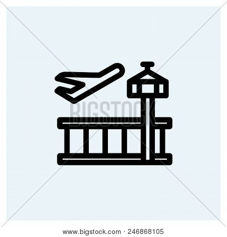 Airport Icon Vector Icon On White Background. Airport Icon Modern Icon For Graphic And Web Design. A