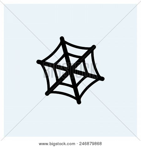 Spider Web Icon Vector Icon On White Background. Spider Web Icon Modern Icon For Graphic And Web Des