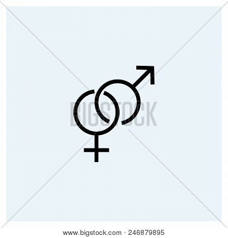 Gender Icon Vector Icon On White Background. Gender Icon Modern Icon For Graphic And Web Design. Gen