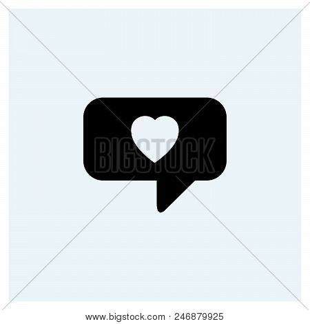 Heart In Speech Bubble Icon.  Heart In Speech Bubble Icon.  Heart In Speech Bubble Icon.  Heart In S