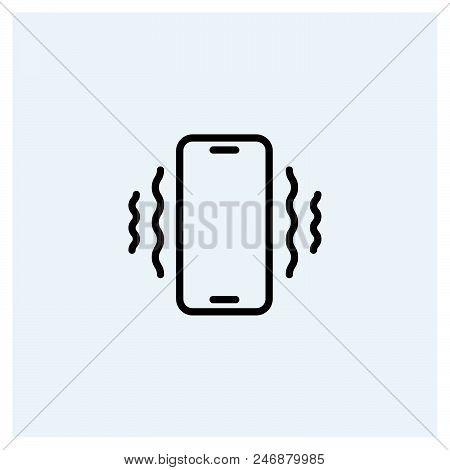 Phone Vibrating Icon Vector Icon On White Background. Phone Vibrating Icon Modern Icon For Graphic A