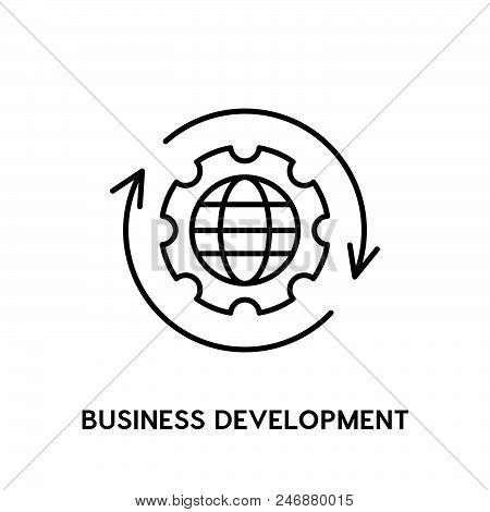 Business Development Vector Icon On White Background. Business Development Modern Icon For Graphic A