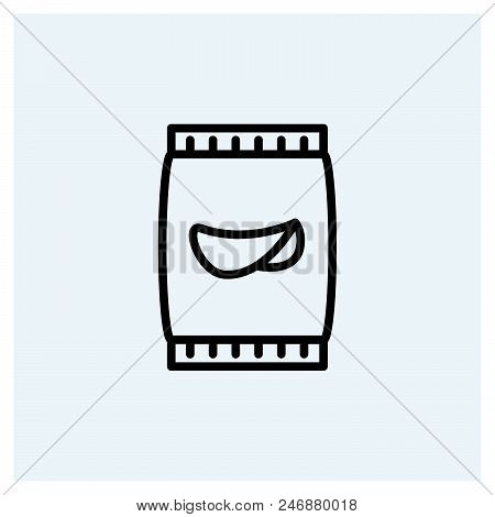Potato Chips Icon Vector Icon On White Background. Potato Chips Icon Modern Icon For Graphic And Web