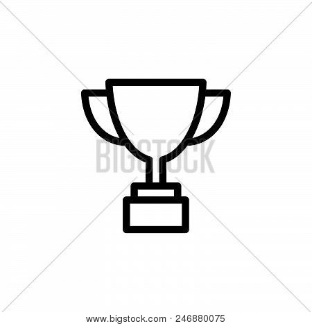Award Cup Vector Icon On White Background. Award Cup Modern Icon For Graphic And Web Design. Award C