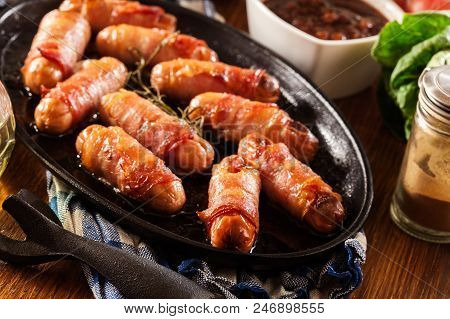 Pigs In Blankets In Baking Dish