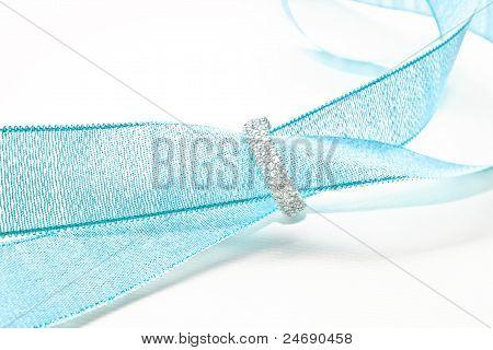 diamond and blue ribbon