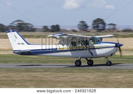 Lethbridge, Australia - November 23, 2014: 1980 Cessna 172n Skyhawk Four Seat Single Engine Light Ai