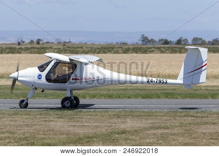 Lethbridge, Australia - November 23, 2014: Pipistrel Virus Sw 100/nw Ultralight Aircraft 24-7953.