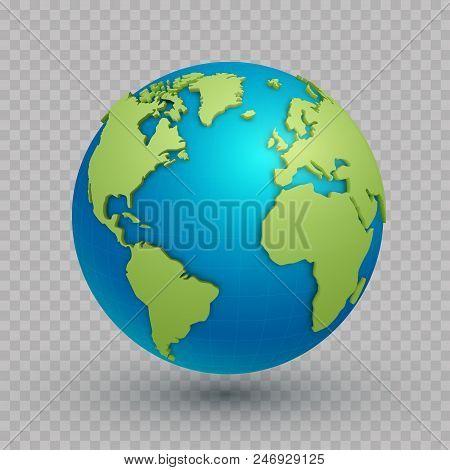 Spherical World Map.3d World Map Globe Vector Photo Free Trial Bigstock