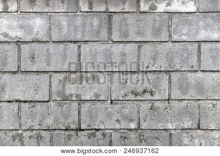 The Old Gray Brick Wall For The Background