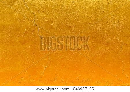 Abstract Texture, Gold Color, Uneven Surface For Background