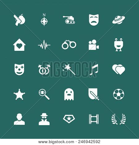 Movie Genres Icons Set.set Of Film Genres Icon, Vector Illustration