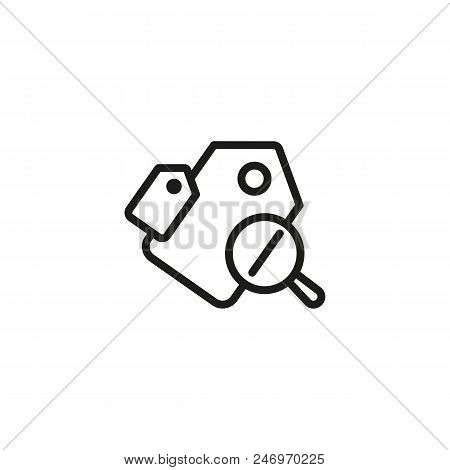 Cheap Price Line Icon. Sale, Price Reduction, Price Tag. Black Friday Concept. Vector Illustration C