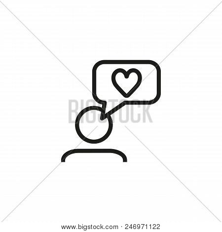 Positive Feedback Line Icon. Like, Chat, Messenger.customer Review Concept. Vector Illustration Can