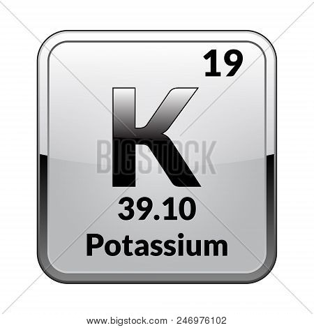 Potassium symbol vector photo free trial bigstock potassium symbolemical element of the periodic table on a glossy white background in a urtaz Gallery