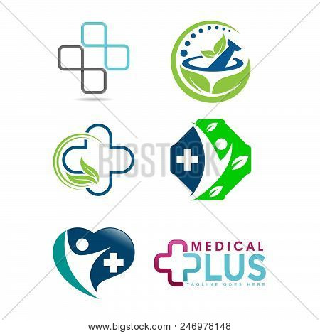Set Of Medical Logo, Medical Center Logo,heart Logo, Health Logo, Doctor Logo, Medicine Logo, Medica