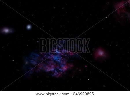 Star field in space a nebulae and a gas congestion. Elements of this image furnished by NASA . poster