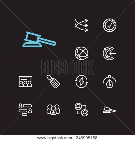 Business Icons Set. Reliable Value And Business Icons With Business Training, Graphic Design And Con