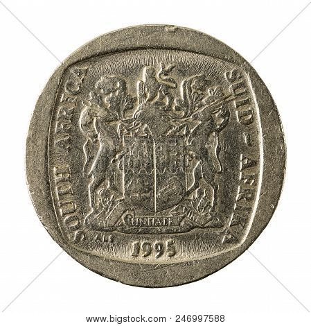 5 South African Rand Coin (2004) Reverse Isolated On White Background