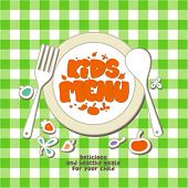 Kids Menu Card Design template. poster