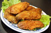 Deep Fried Chicken Wing Appetizer or Snack poster