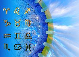 Twelve Symbols Of The Zodiac. Space Horoscope