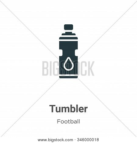 Tumbler icon isolated on white background from football collection. Tumbler icon trendy and modern T