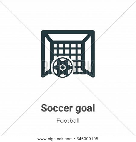 Soccer goal icon isolated on white background from football collection. Soccer goal icon trendy and