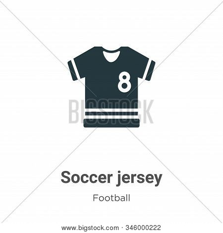Soccer jersey icon isolated on white background from football collection. Soccer jersey icon trendy