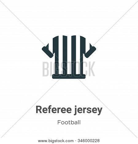 Referee jersey icon isolated on white background from football collection. Referee jersey icon trend