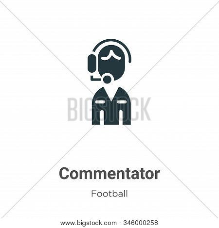 Commentator icon isolated on white background from football collection. Commentator icon trendy and