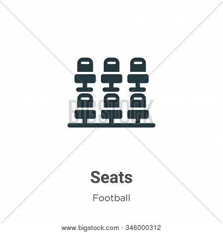 Seats icon isolated on white background from football collection. Seats icon trendy and modern Seats