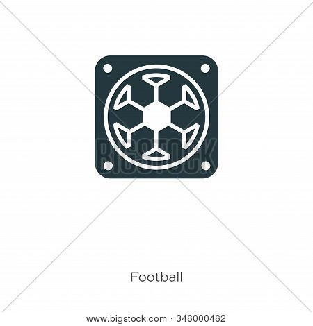 Red icon isolated on white background from football collection. Red icon trendy and modern Red symbo