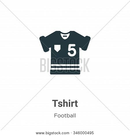 Tshirt Vector Icon On White Background. Flat Vector Tshirt Icon Symbol Sign From Modern Football Col