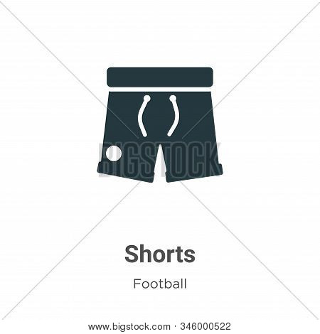 Shorts icon isolated on white background from football collection. Shorts icon trendy and modern Sho