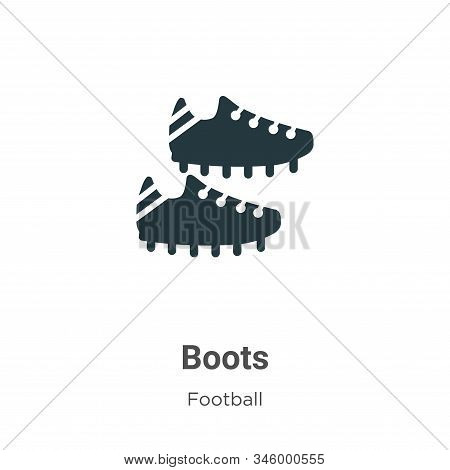 Boots icon isolated on white background from football collection. Boots icon trendy and modern Boots