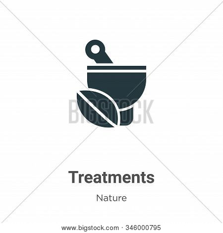 Treatments icon isolated on white background from nature collection. Treatments icon trendy and mode