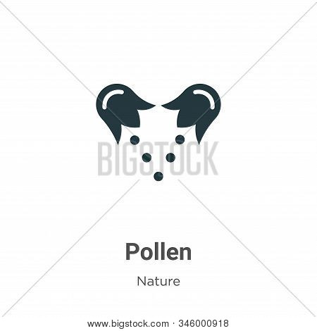 Pollen icon isolated on white background from nature collection. Pollen icon trendy and modern Polle