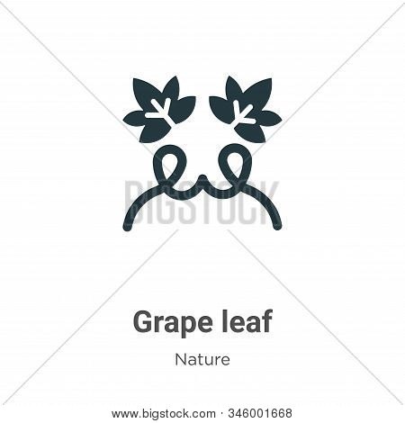 Grape leaf icon isolated on white background from nature collection. Grape leaf icon trendy and mode